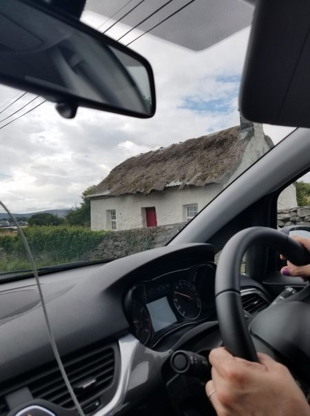 home with thatched roof