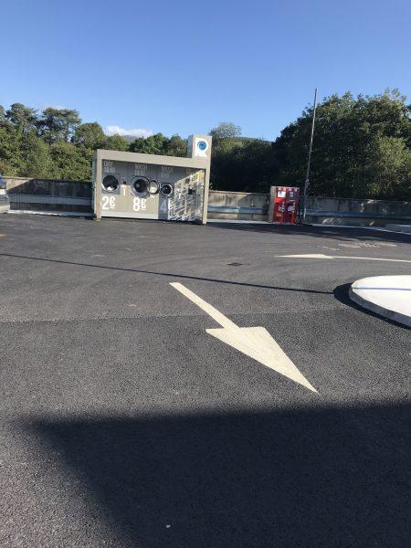 Kenmare laundry mat in parking lot