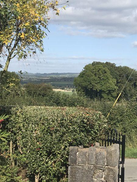 Stone fence at Kilkenny B & B