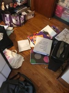 de-cluttering my office