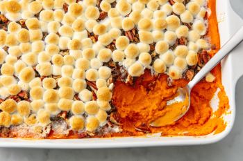 sweet potato casserole. Source: Delish