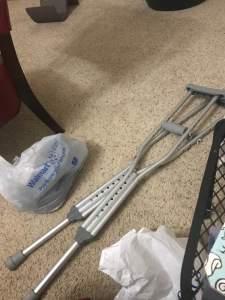 Leah's crutches