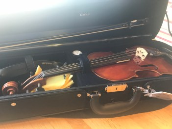 Leah's new violin