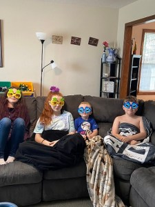 The kids in their silly sunglasses--love it!