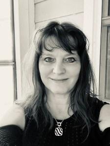 Beth Jones, black and white photo