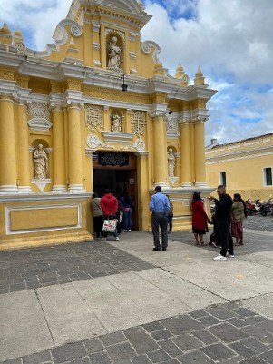 church in Antigua where people come to get healed