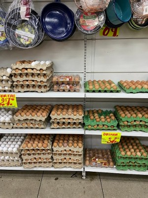 eggs are not refrigerated at stores or the street markets