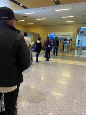 line for Guatemala flight