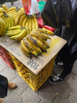 street market bananas