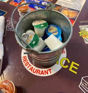 creamers in little buckets