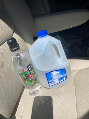We bought plastic water bottles and jugs of water for refills at the Dollar General store nearby