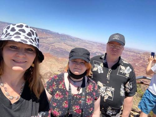 me, our daughter Leah, & Ray at Grand Canyon
