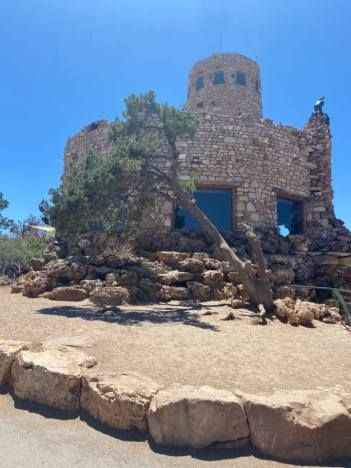 watch tower at Grand Canyon