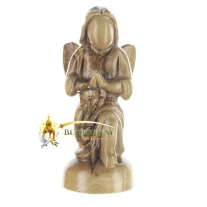 Olive Wood Handcrafted Kneeling Angel from Bethlehem