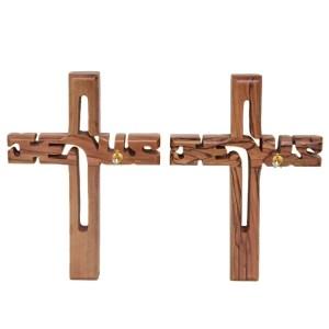 Olive Wood Jesus Cross Small from Bethlehem