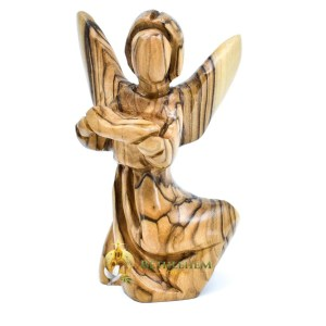 Handcrafted Wooden Angel with Hymnal from Bethlehem