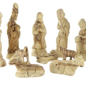 Hand crafted olive Wood Nativity Figurines, from Bethlehem