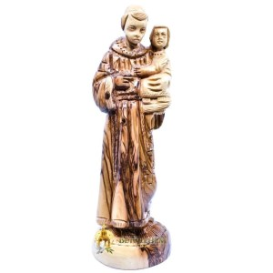 Saint Anthony Olive Wood Statue