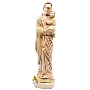 Saint Joseph Olive Wood Statue from Bethlehem