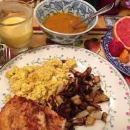 Tweet: I am happy now! Home made brunch feast. Utter grat…