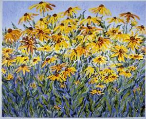Gloriosa Daisies: acrylic painting