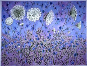 Queen Anne's Lace: acrylic painting