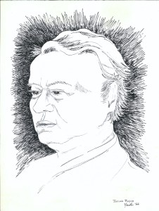 drawing: Josiah Royce portrait