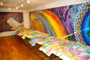 Gallery view of 53 rainbow etching strips.