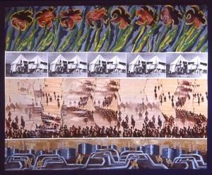 collage: The Iraq War, The Desert War