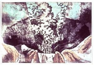 Intaglio etching: Caldera