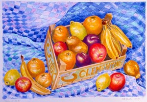Clementines #2: acrylic painting