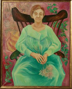 oil painting: Beth with Flowers in an Empty Lap