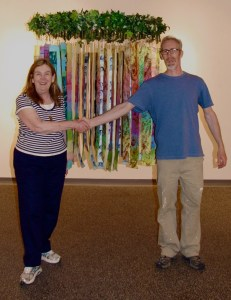 "Thank you Tim, for a great help installing ""Circle of Life,"" in the Jannotta Gallery"