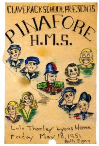 HMS Pinafore program cover 1951