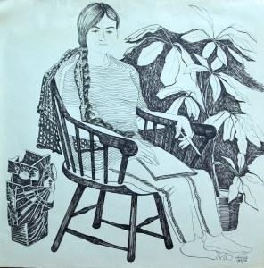 marker on paper portrait of Julia Egan