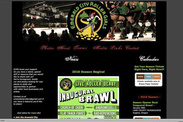 Emerald City Roller Girls website