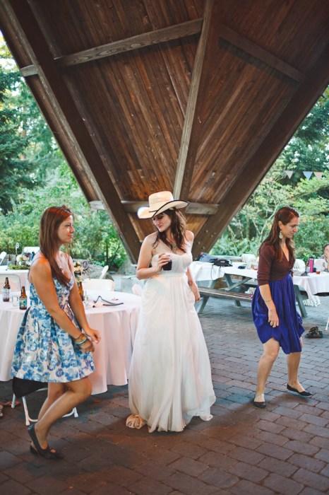 Ashley + Ian's Hoyt Arboretum DIY Forest Wedding