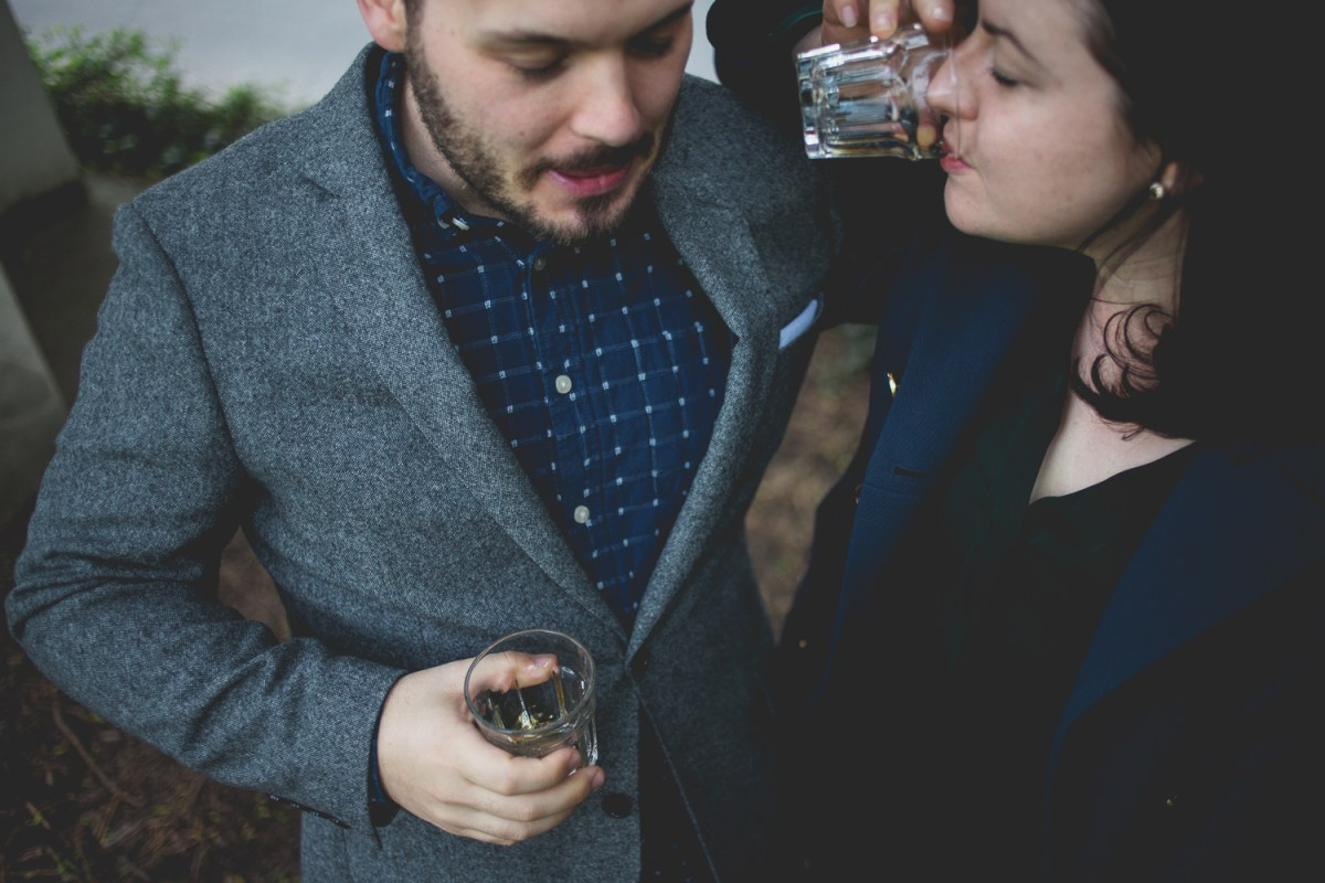 Erin + John | Cathedral Park + Occidental Brewing Engagement Ses