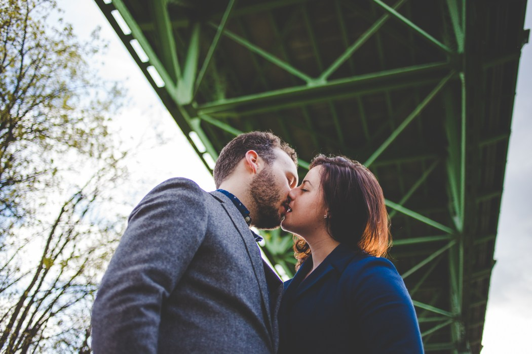 Erin + John   Cathedral Park + Occidental Brewing Engagement Ses