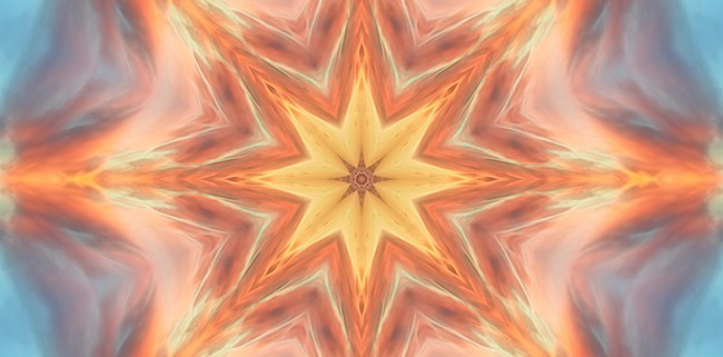 The Fire From Within Mandala by Beth Sawickie