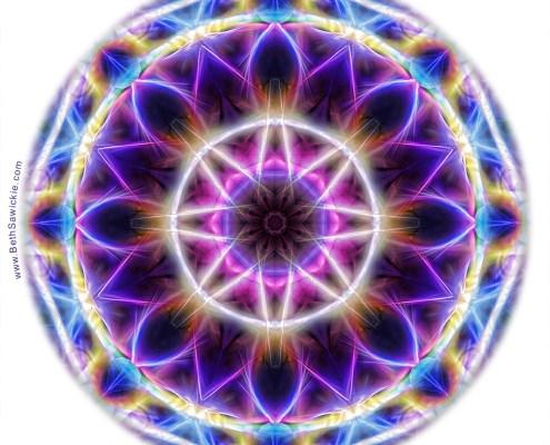 Spring Energy Mandala 2 by Beth Sawickie