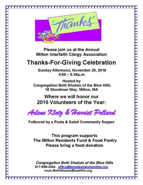 Thanks-For-Giving Celebration
