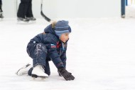 Fall down on the ice