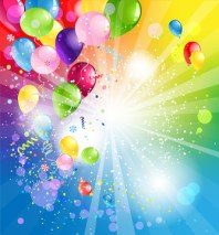 Holiday backgrund with balloons