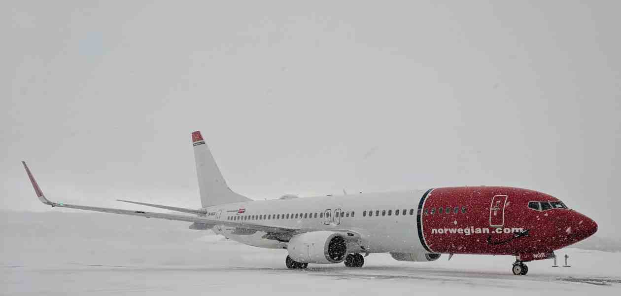 Norwegian Air in the Snow