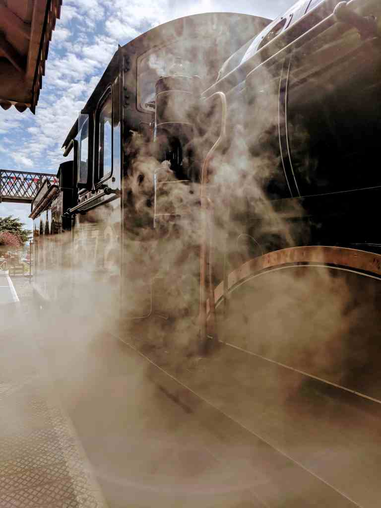 Steam trains allow you to explore different places on your car free holiday.