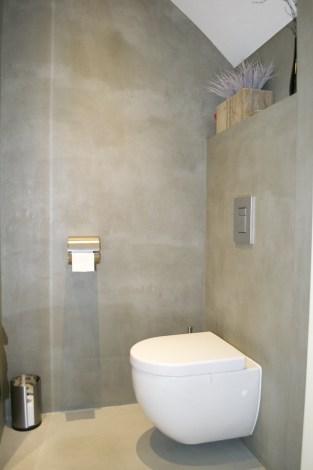 Beton Ciré in badkamer: Toilet