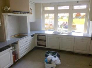 Beton Ciré aanrechtblad hoek keuken -