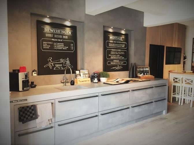 Complete keuken met Beton Ciré