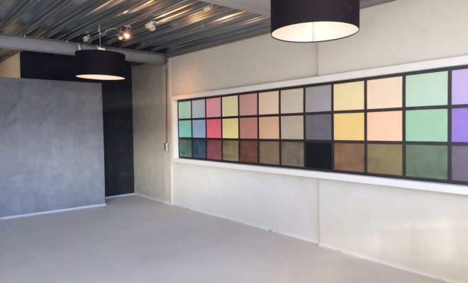 Impressie van onze Beton Ciré Showroom